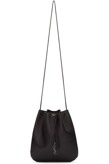 Saint Laurent - Black Leather Jen Flat Shoulder Bag