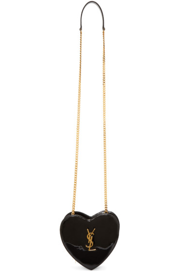 Saint Laurent - Black Small Love Heart Chain Bag