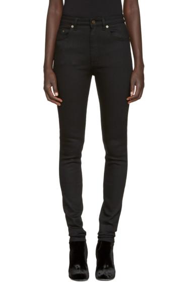 Saint Laurent - Black Original High Waisted Skinny Jeans
