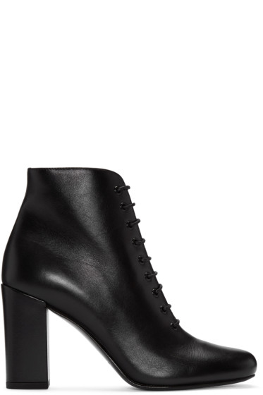 Saint Laurent - Black Lace-Up Babies Boots