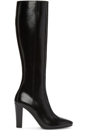Saint Laurent - Black Leather Lily Boots