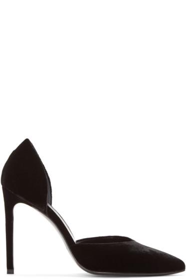 Saint Laurent - Black Velvet Paris Heels