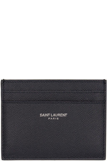 Saint Laurent - Navy Leather Card Holder