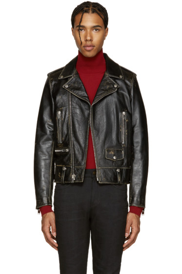 Saint Laurent - Black Classic Motorcycle Jacket