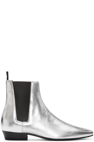 Saint Laurent - Silver Devon Chelsea Boots