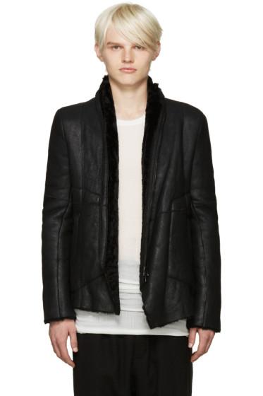 Julius - Black Shearling Jacket