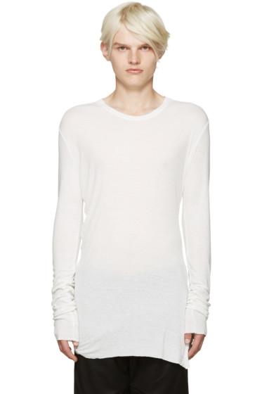 Julius - Off-White Jersey T-Shirt