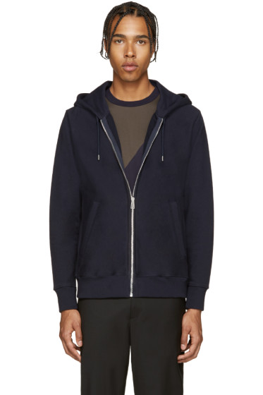 PS by Paul Smith - Navy French Terry Zip Hoodie
