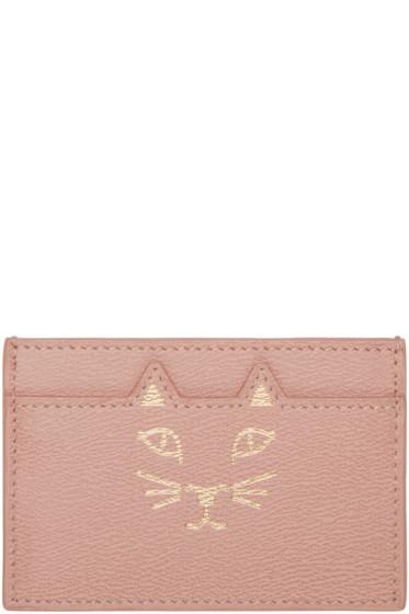 Charlotte Olympia - Pink Feline Card Holder