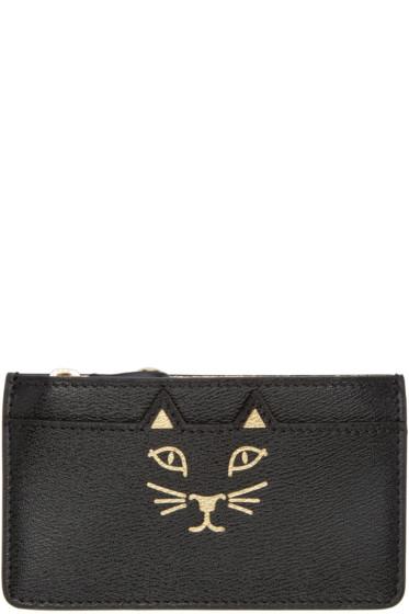 Charlotte Olympia - Black Feline Coin Purse