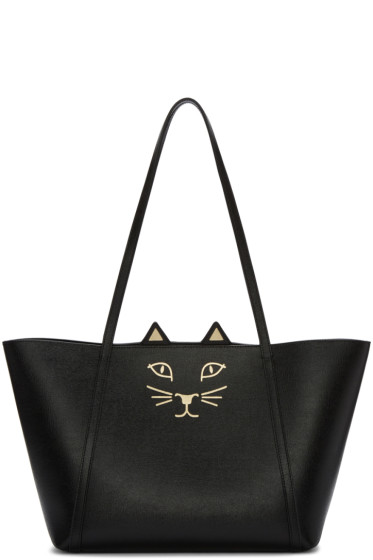 Charlotte Olympia - Black Mini Feline Shopper