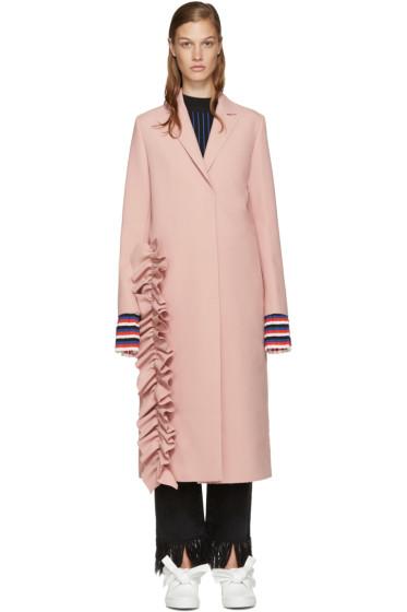 MSGM - Pink Ruffle Coat