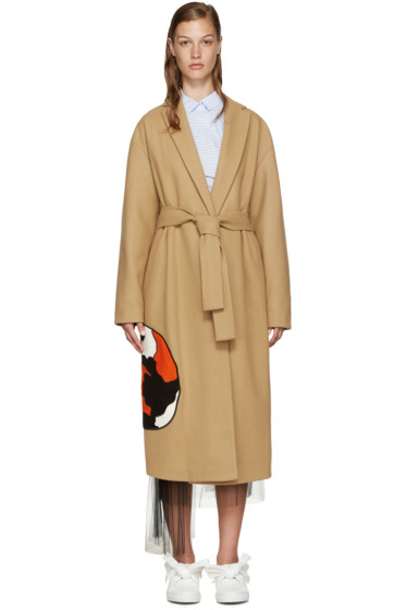 MSGM - Tan Wool Cat Coat