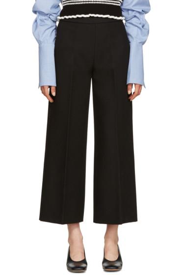 MSGM - Black Wide-Leg Trousers