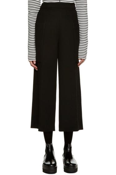 MSGM - Black Wide-Leg Pocket Trousers