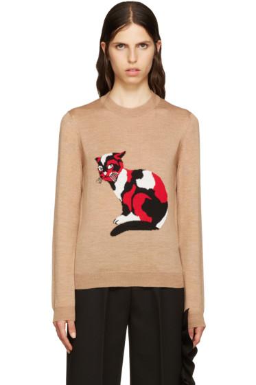 MSGM - Beige Wool Cat Pullover