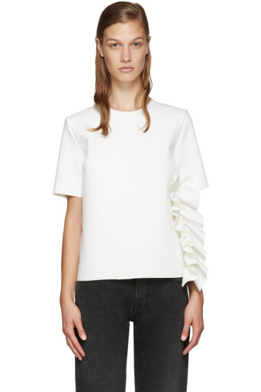 MSGM - White Ruffle Top