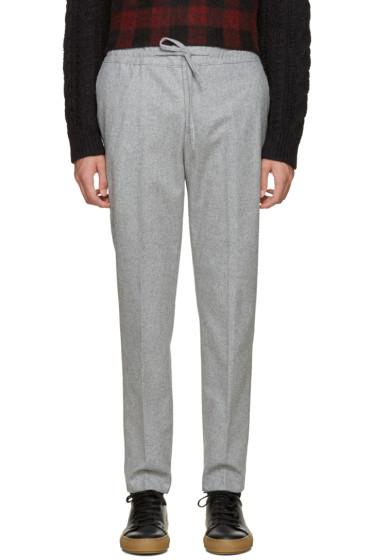 MSGM - Grey Drawstring Trousers
