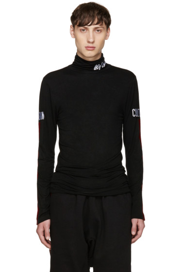 KTZ - Black Sleeve Detail Turtleneck
