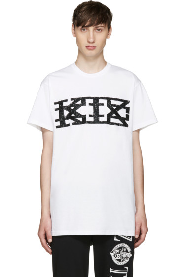 KTZ - White Textured Logo T-Shirt