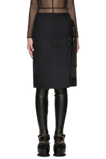 Sacai - Navy Wrap Skirt
