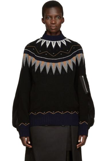 Sacai - Black Ski Sweater