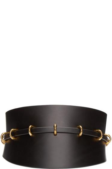 Fleet Ilya - Black Leather Multi-Ring Corset