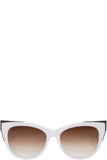 Thierry Lasry - White Epiphany Cat-Eye Sunglasses