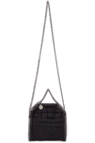 Stella McCartney - Black Velvet Tiny Falabella Bag
