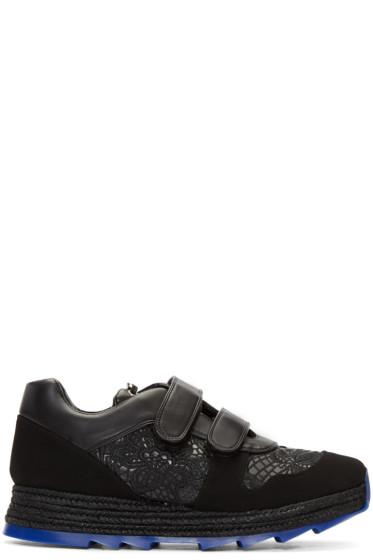 Stella McCartney - Black Velcro Macy Sneakers
