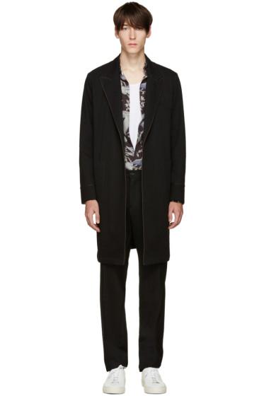 Umit Benan - Black Twill Coat