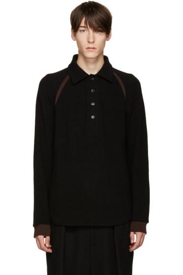 Umit Benan - Black Knit Polo