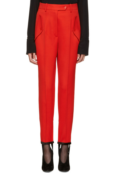 Nina Ricci - Red Stirrup Trousers