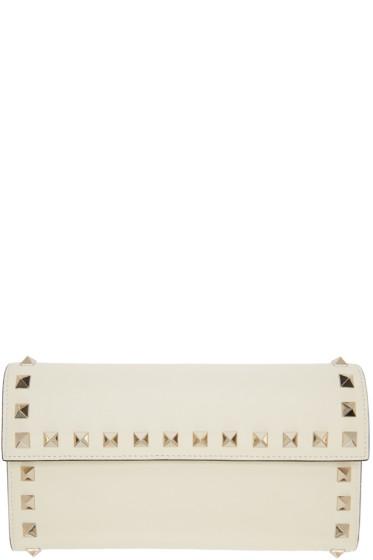 Valentino - Ivory Rockstud Flap Wallet