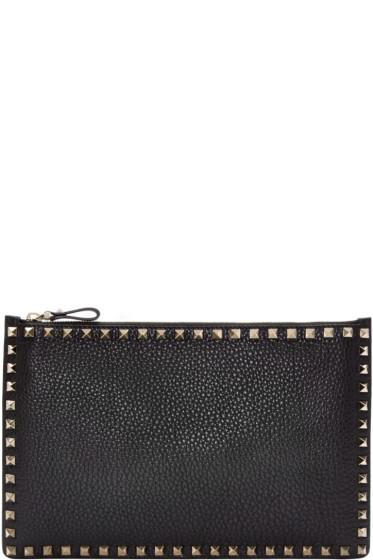 Valentino - Black Leather Rockstud Pouch