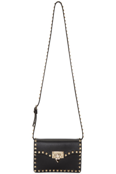 Valentino - Black Rockstud Flap Bag