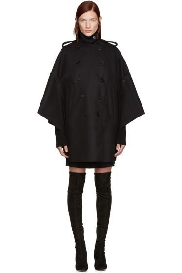 Valentino - Black Cape Coat