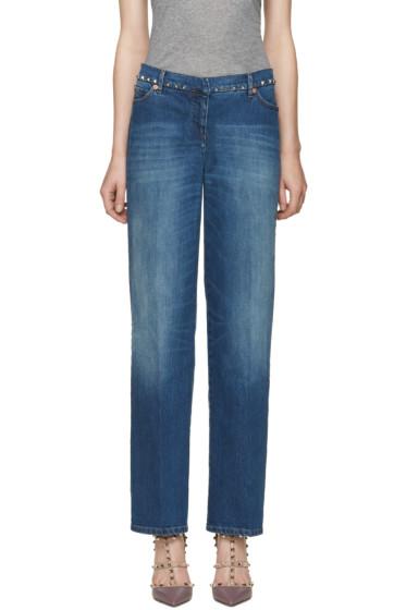 Valentino - Indigo Rockstud Untitled Jeans