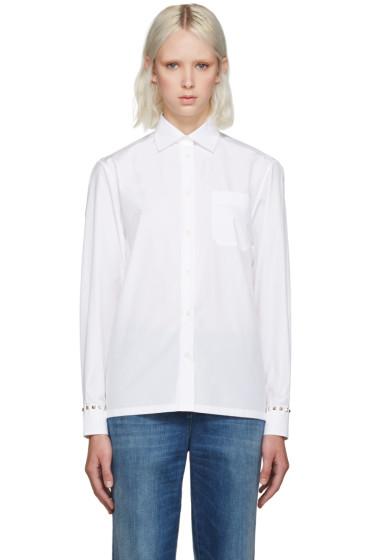 Valentino - White Rockstud Untitled Shirt