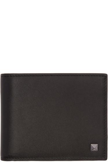 Valentino - Black Single Rockstud Wallet