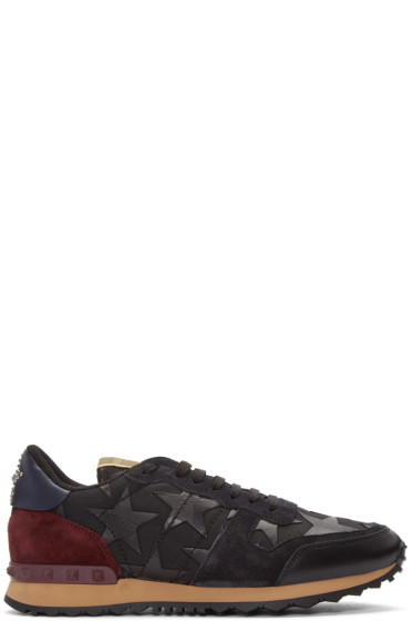 Valentino - Black Camustars Rockrunner Sneakers