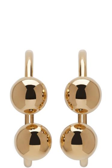 J.W.Anderson - Gold Double Ball Earrings