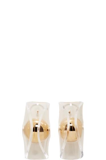 J.W.Anderson - Gold Globe Earrings