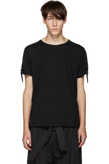 J.W.Anderson - Black Strap T-Shirt