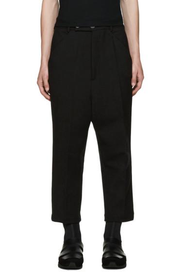 Thamanyah - Black Wool Trousers