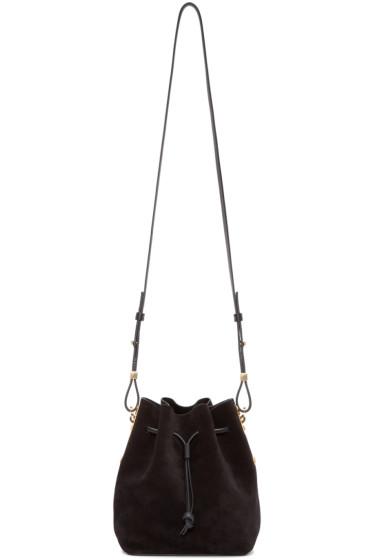 Sophie Hulme - Black Suede Nelson Bucket Bag