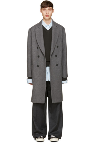 AMI Alexandre Mattiussi - Grey Oversized Wool Coat