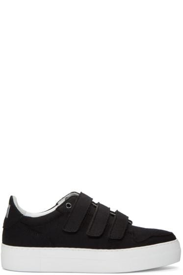 AMI Alexandre Mattiussi - Black Felted Velcro Sneakers