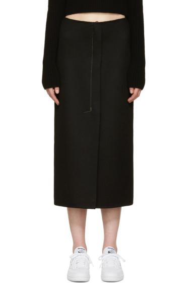 Calvin Klein Collection - Black Cashmere Haokin Skirt