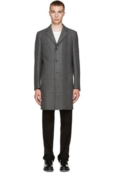 Calvin Klein Collection - Grey Wool Munich Coat